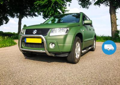 Volledige carwrap met Donker groene carwrap.