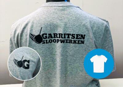 Custom logo ontwerpen en bedrukt op door ons geleverde werkkleding